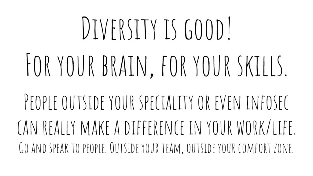 Diversity is good! For your brain, for your ski...