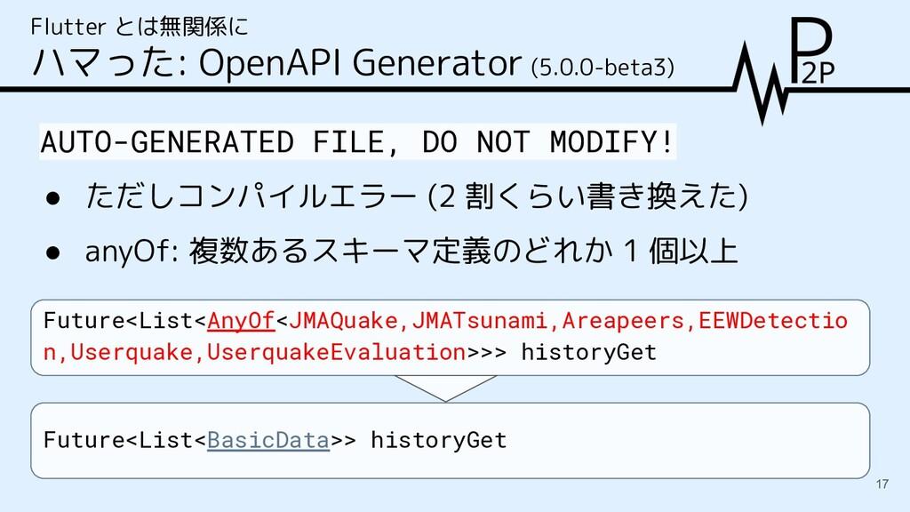 Flutter とは無関係に ハマった: OpenAPI Generator (5.0.0-b...