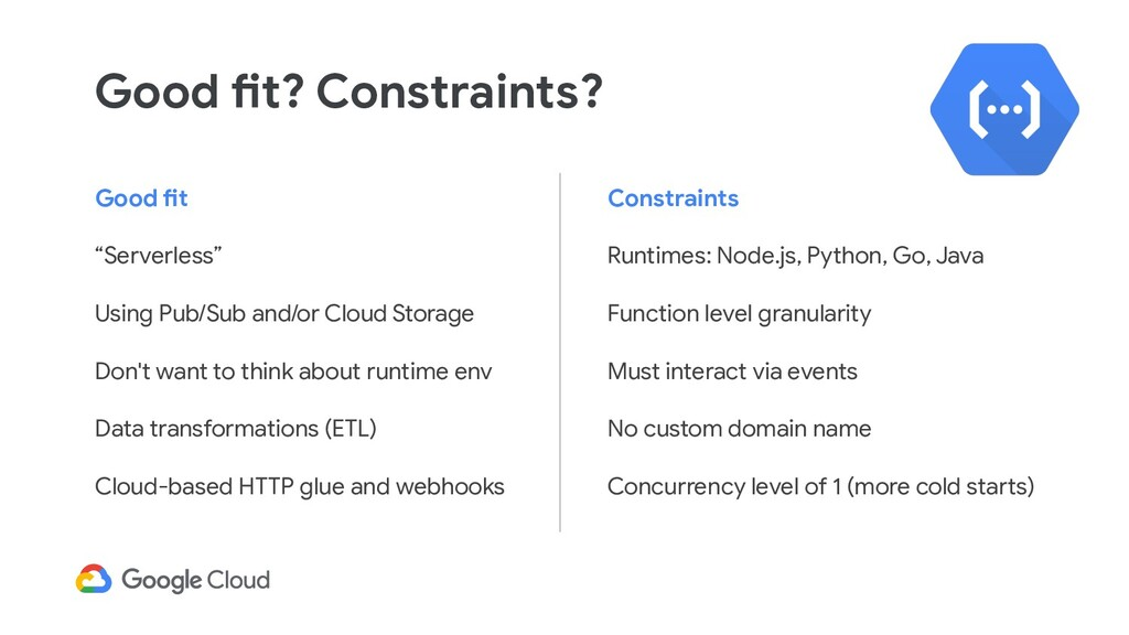 """Good fit """"Serverless"""" Using Pub/Sub and/or Clou..."""