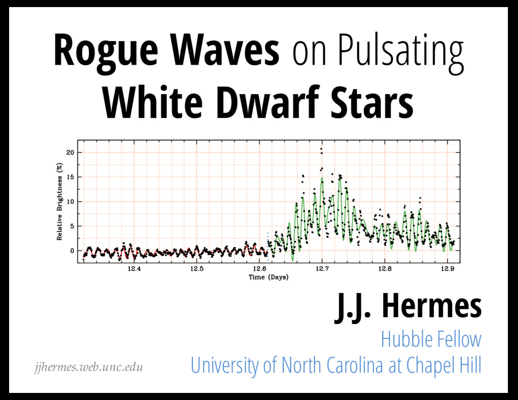 Rogue Waves on Pulsating White Dwarf Stars J.J....