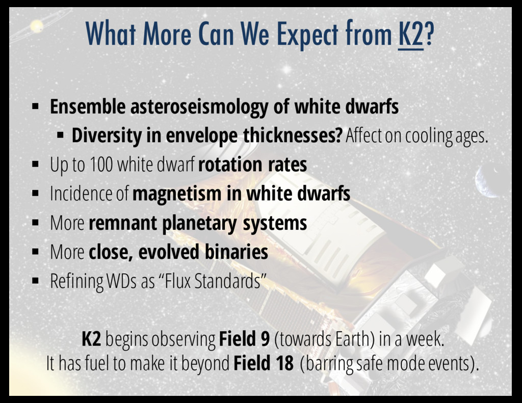§ Ensemble asteroseismology of white dwarfs § D...