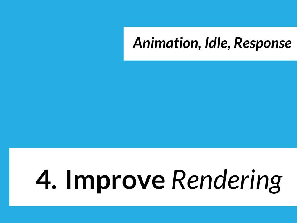 4. Improve Rendering Load / Idle Animation, Idl...