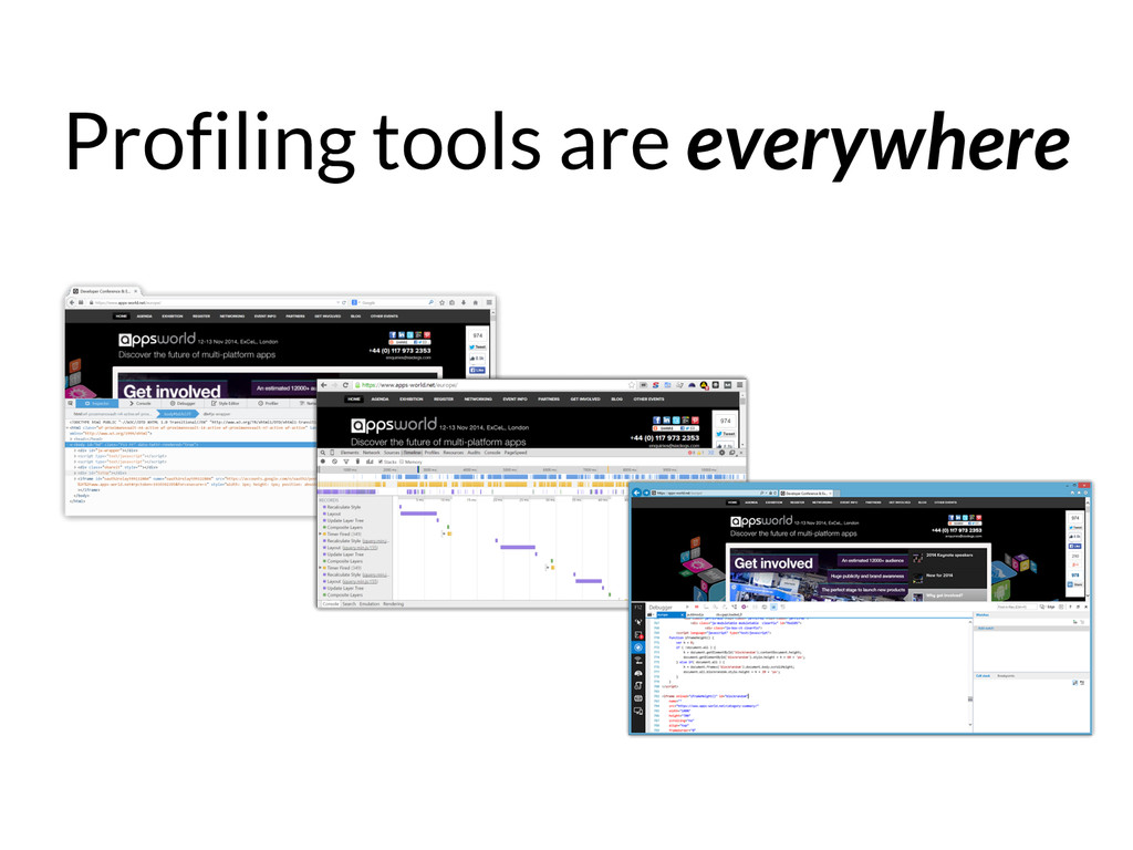 Profiling tools are everywhere