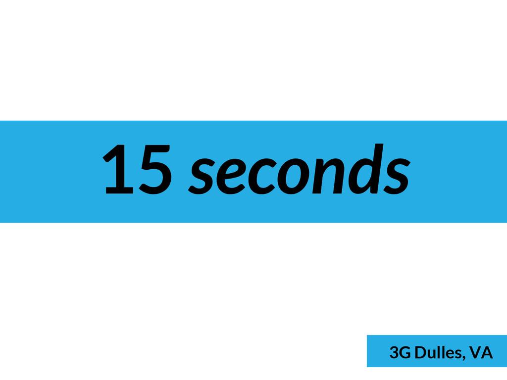 15 seconds 3G Dulles, VA
