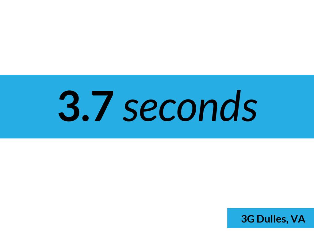 3.7 seconds 3G Dulles, VA 3G Dulles, VA