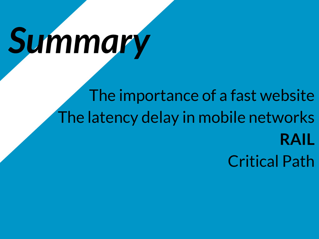 Summary The importance of a fast website The la...