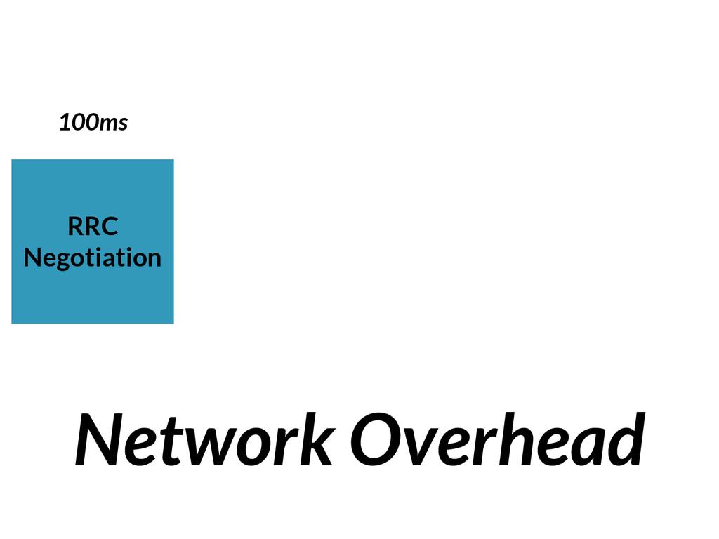 RRC Negotiation Network Overhead 100ms