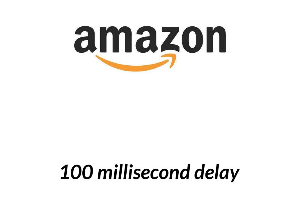 100 millisecond delay