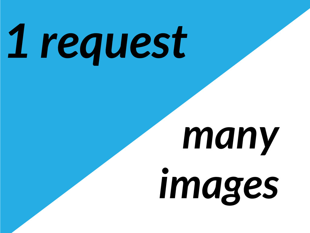 1 request many images