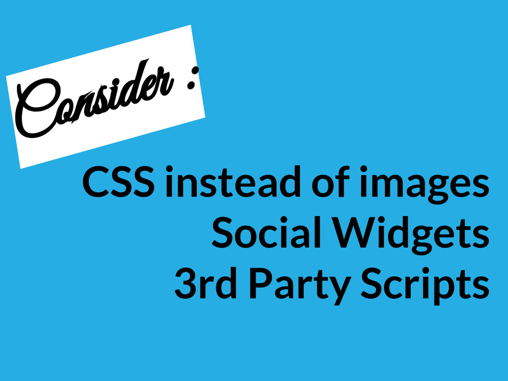 CSS instead of images Social Widgets 3rd Party ...