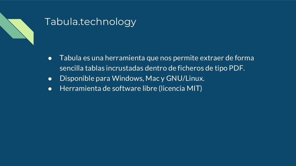Tabula.technology ● Tabula es una herramienta q...