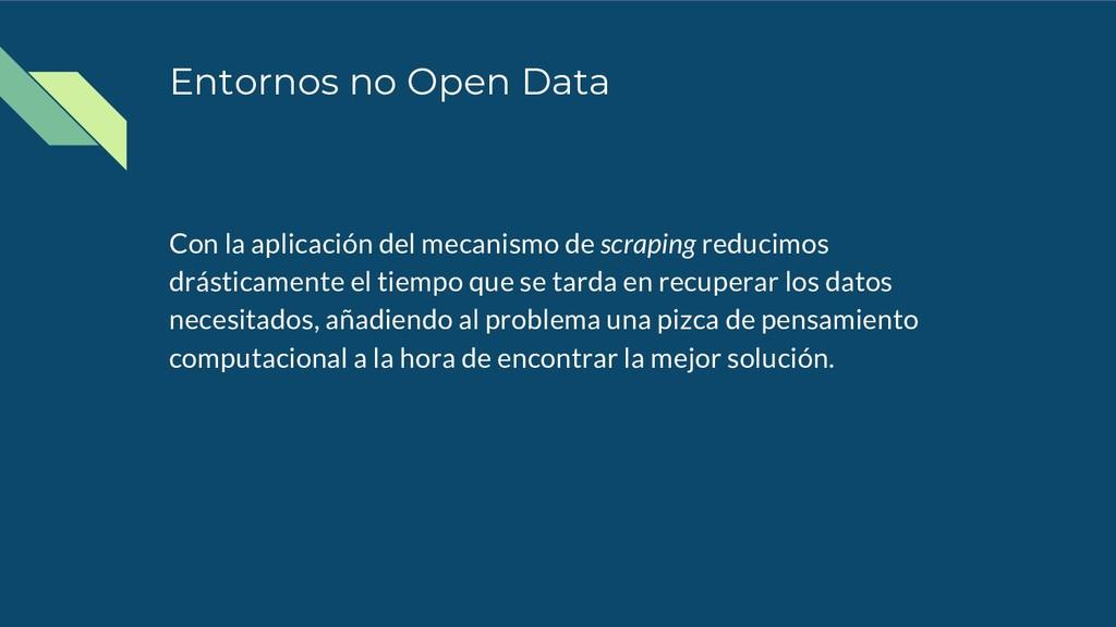 Entornos no Open Data Con la aplicación del mec...