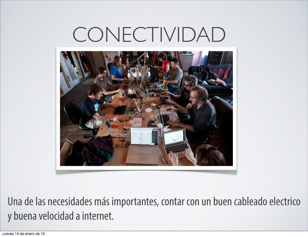 CONECTIVIDAD Una de las necesidades más importa...