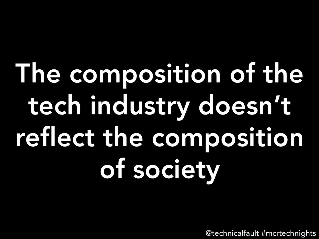 The composition of the tech industry doesn't re...