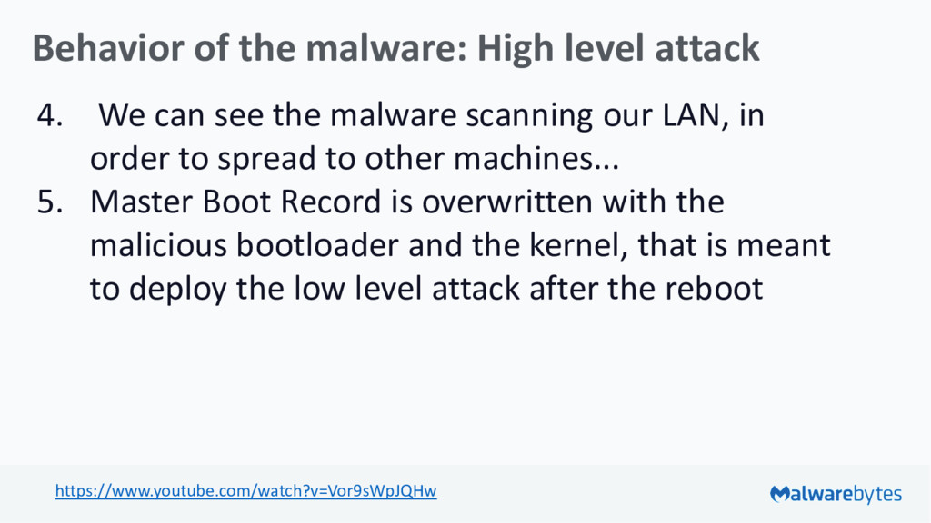 Behavior of the malware: High level attack 4. W...