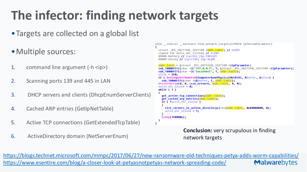 The infector: finding network targets •Targets ...