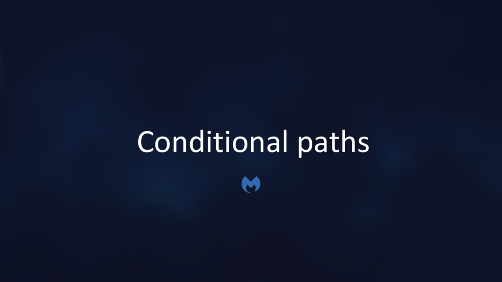 Conditional paths
