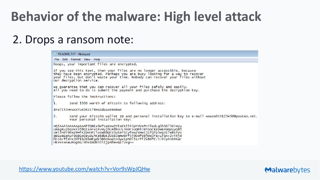 Behavior of the malware: High level attack 2. D...
