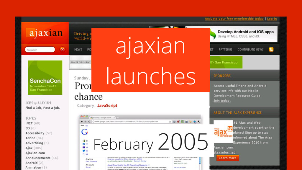 February 2005 ajaxian launches
