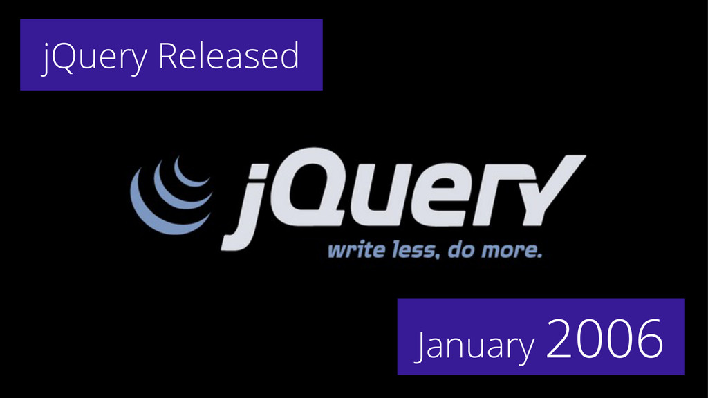 January 2006 jQuery Released