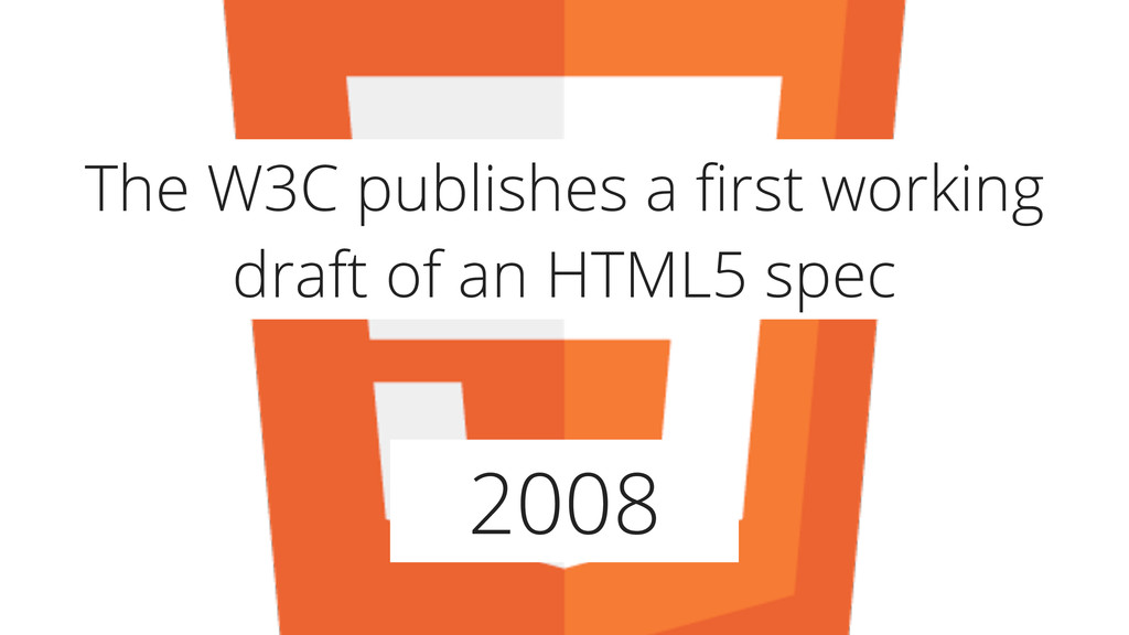 2008 The W3C publishes a first working draft of ...
