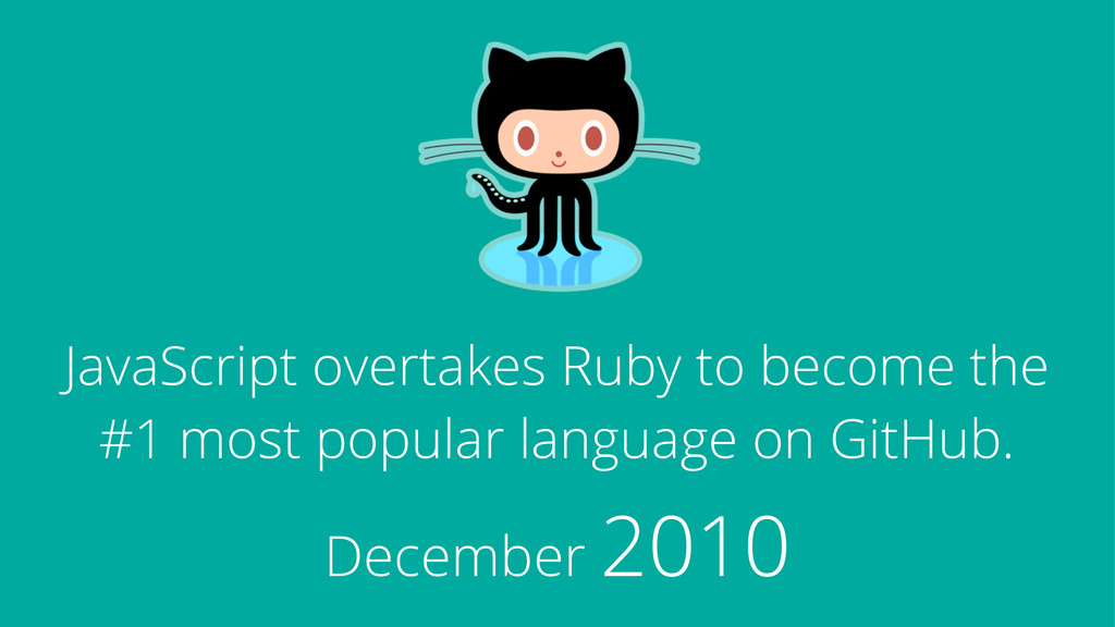 JavaScript overtakes Ruby to become the #1 most...