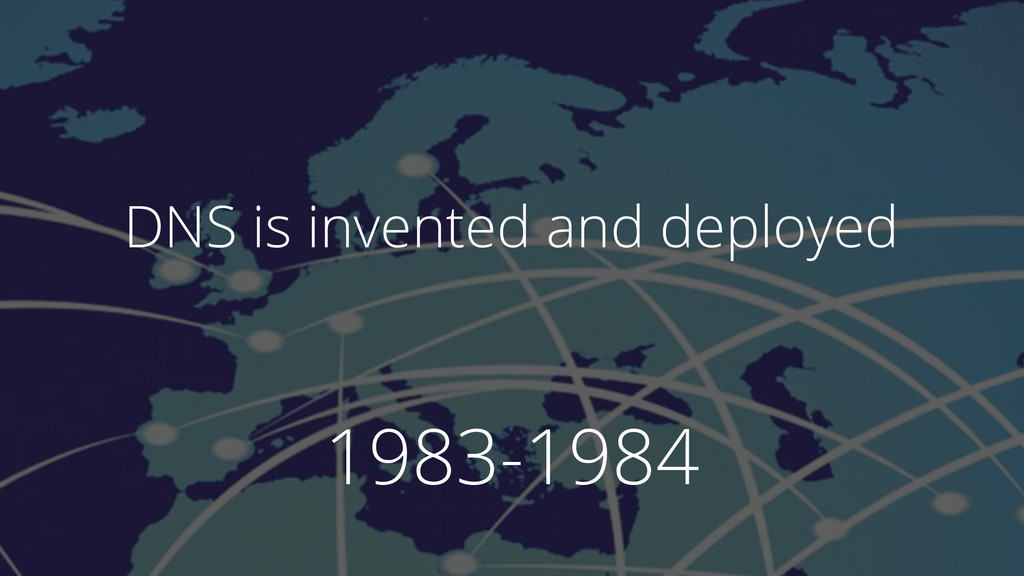 1983-1984 DNS is invented and deployed