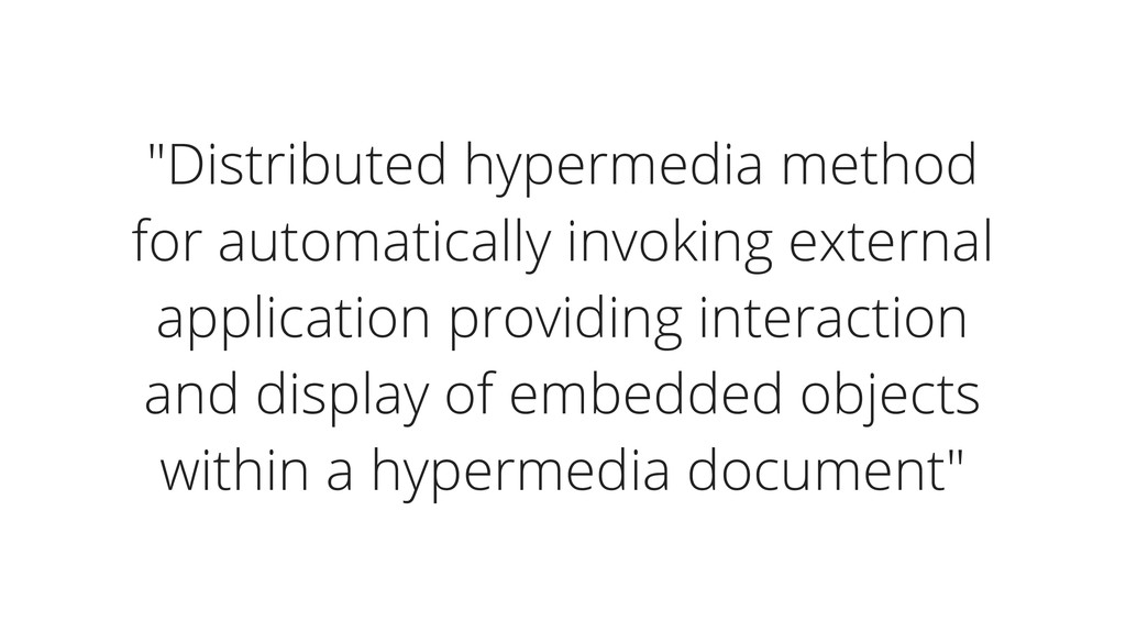 """""""Distributed hypermedia method for automaticall..."""