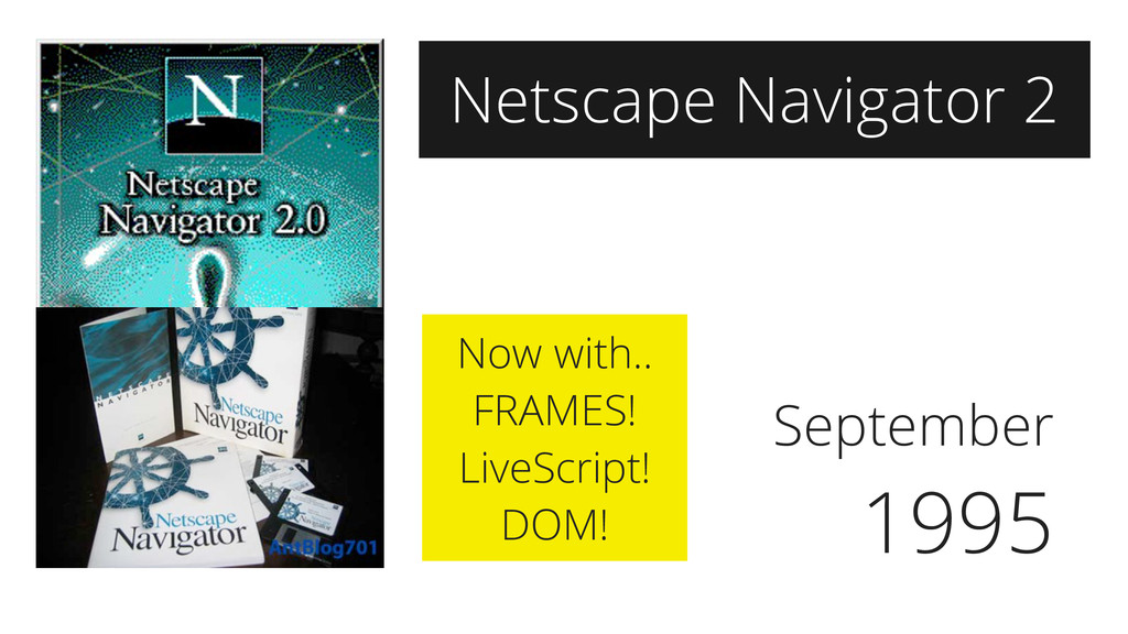 September 1995 Netscape Navigator 2 Now with.. ...