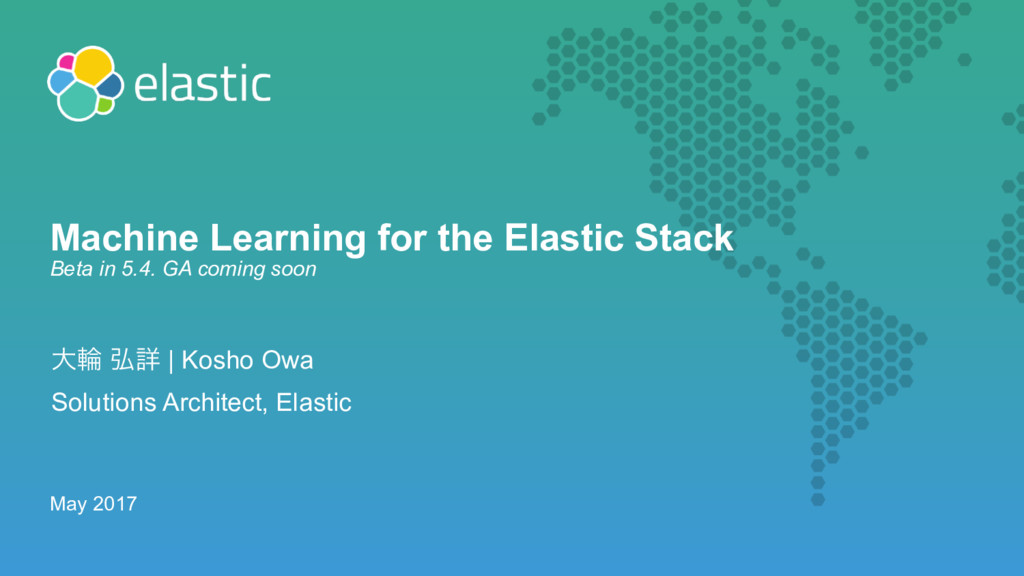 Machine Learning for the Elastic Stack  Beta i...