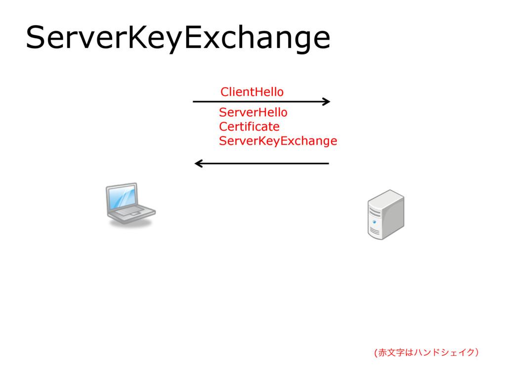ServerKeyExchange ClientHello ServerHello Certi...