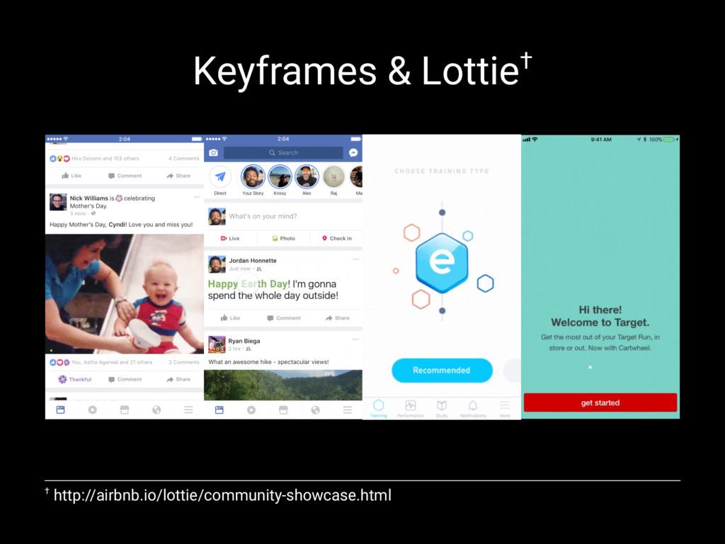 Keyframes & Lottie† † http://airbnb.io/lottie/c...