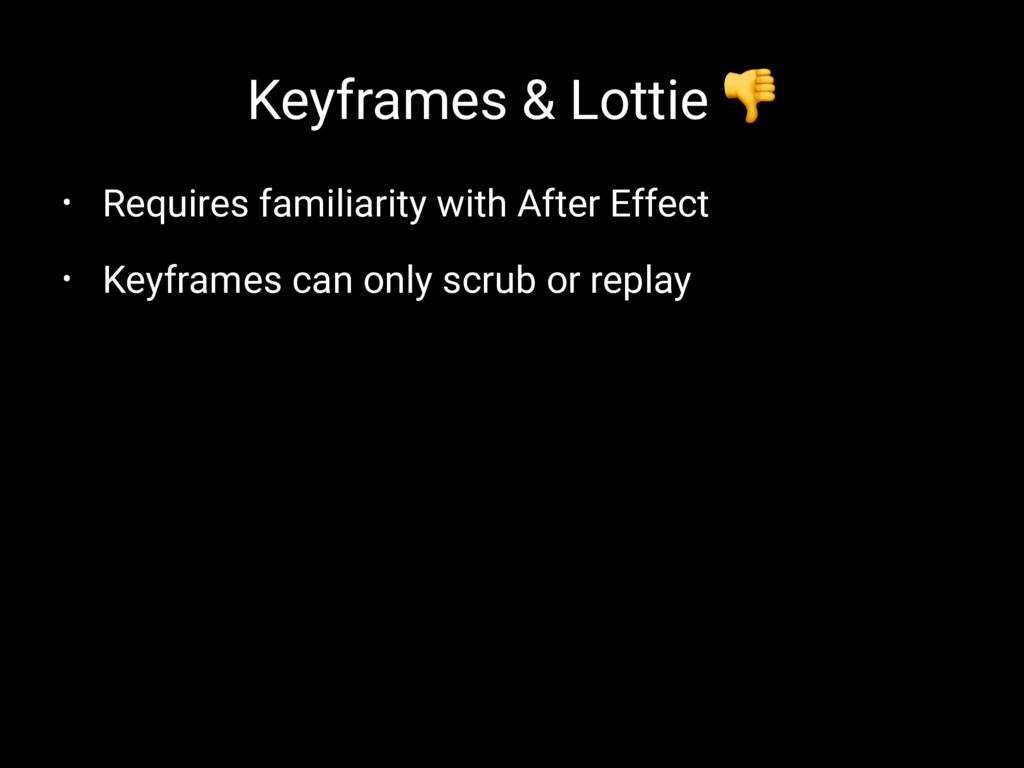 Keyframes & Lottie ! • Requires familiarity wit...
