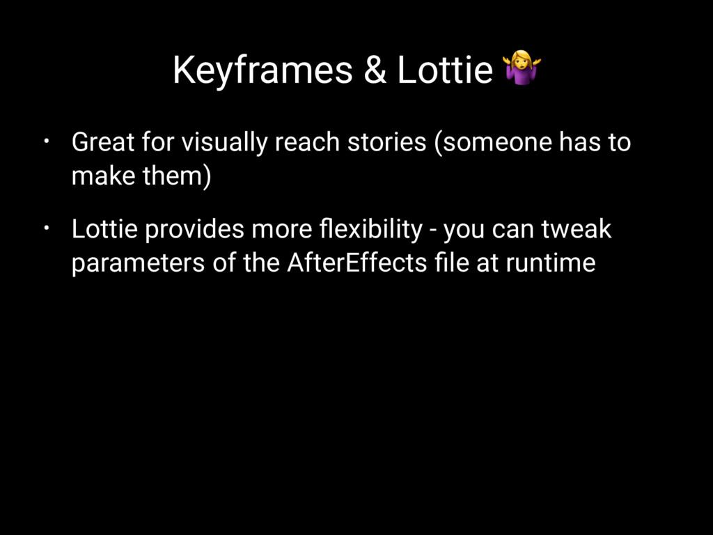 Keyframes & Lottie ! • Great for visually reach...