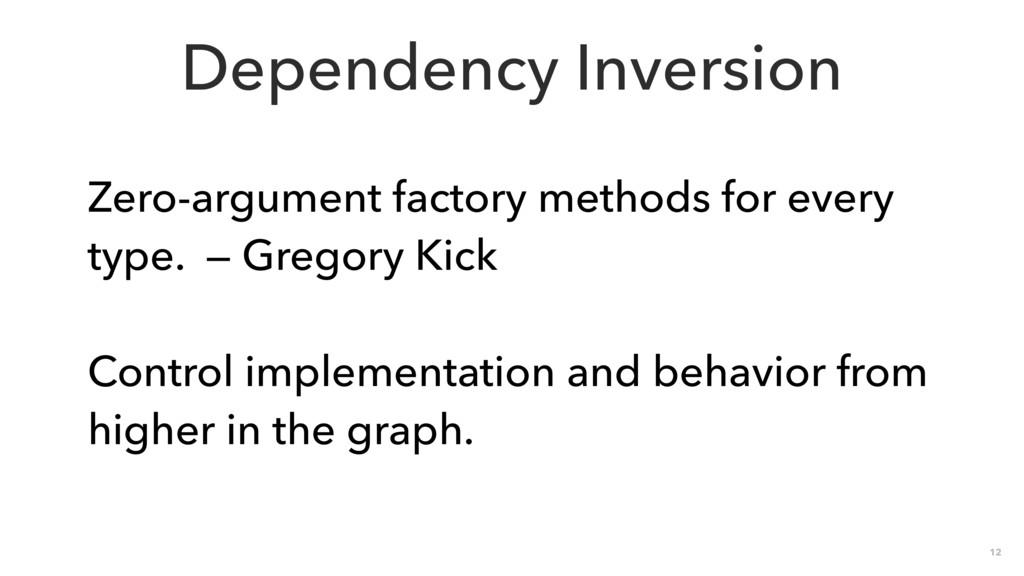 12 Dependency Inversion Zero-argument factory m...