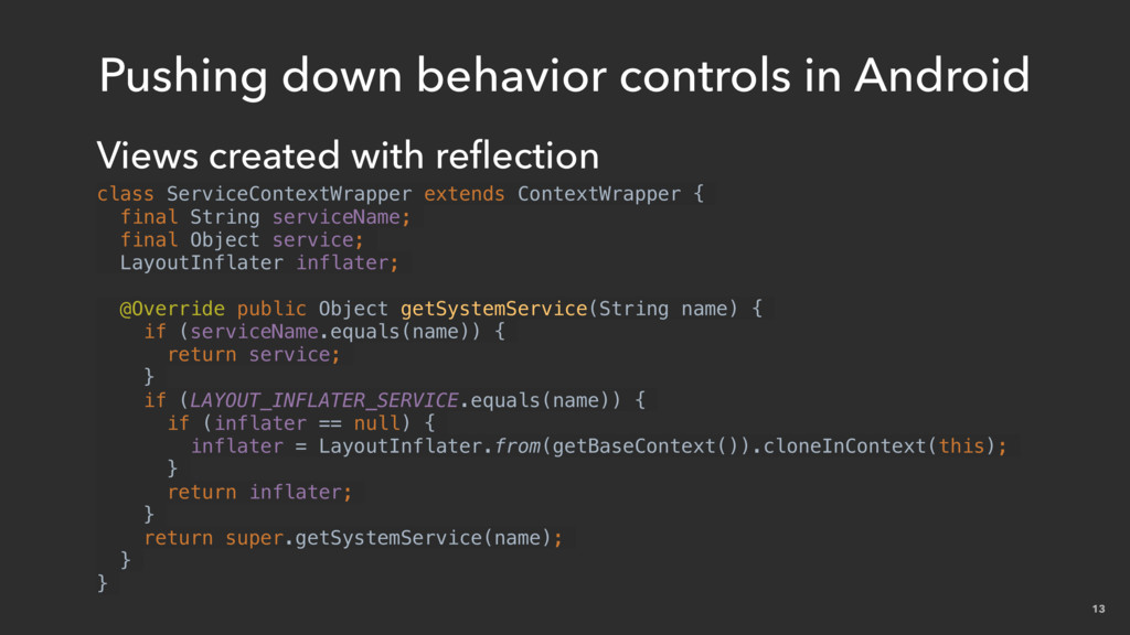 13 Pushing down behavior controls in Android Vi...