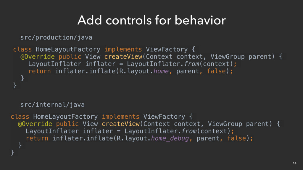 14 Add controls for behavior class HomeLayoutFa...