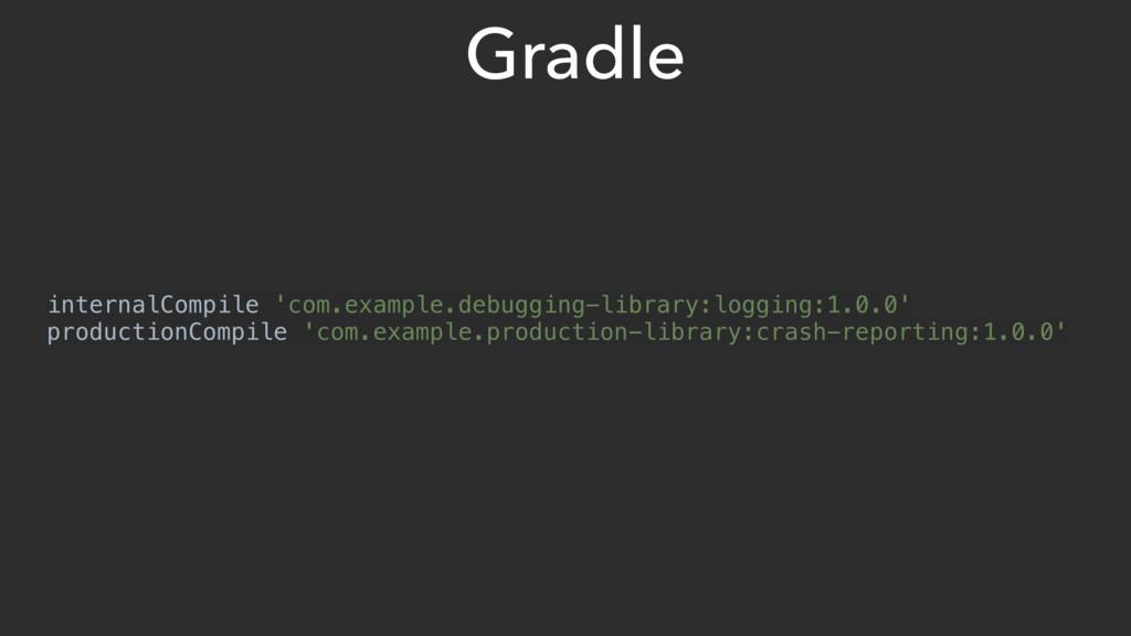 Gradle internalCompile 'com.example.debugging-l...