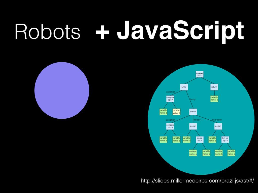 Robots + JavaScript http://slides.millermedeiro...