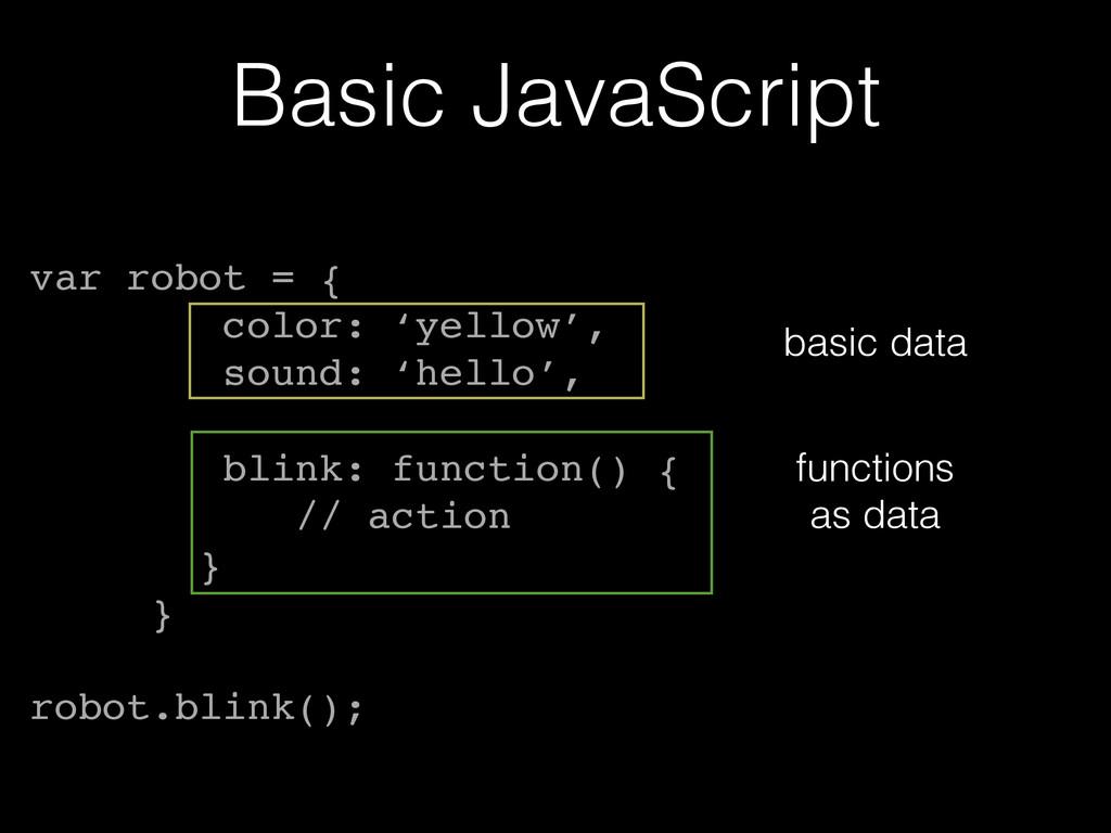 Basic JavaScript var robot = {! color: 'yellow'...