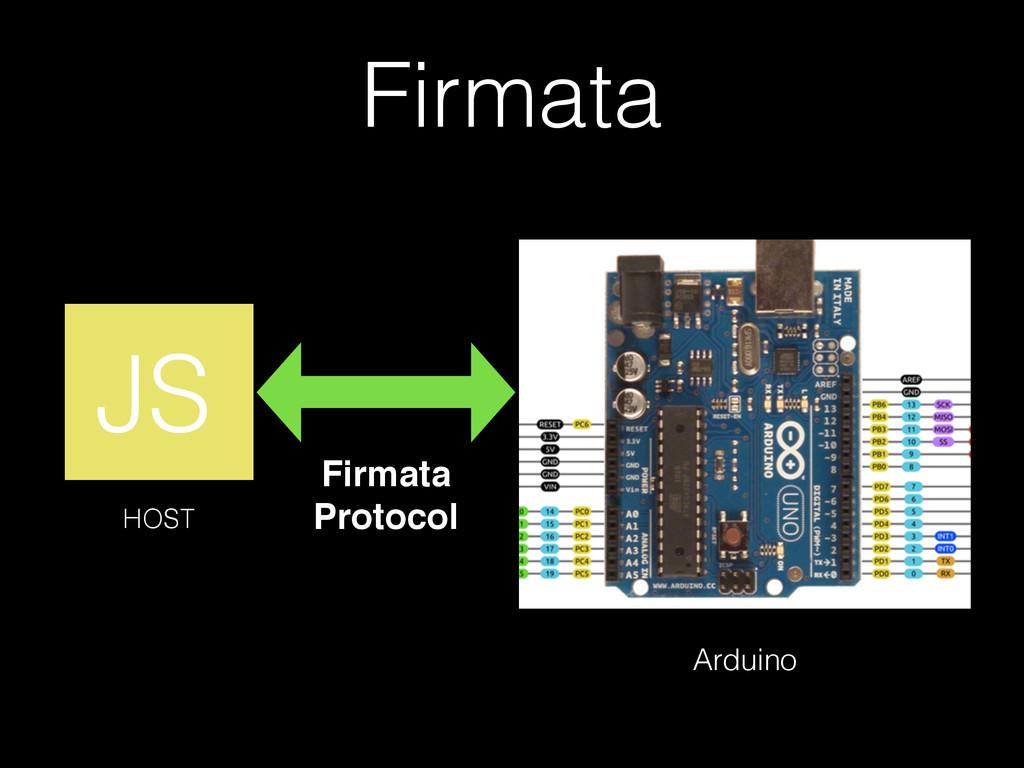 HOST Arduino Firmata! Protocol Firmata JS