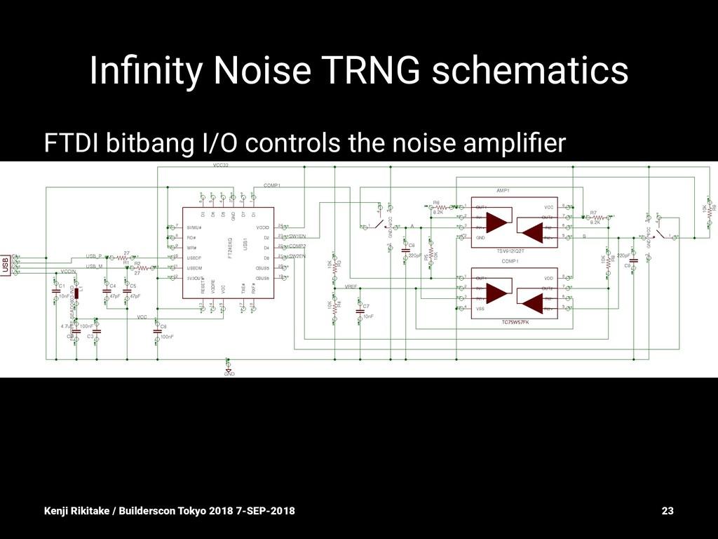 Infinity Noise TRNG schematics FTDI bitbang I/O ...