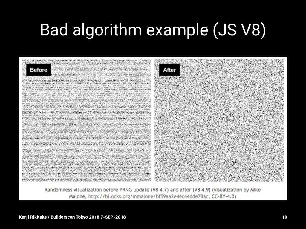 Bad algorithm example (JS V8) Kenji Rikitake / ...