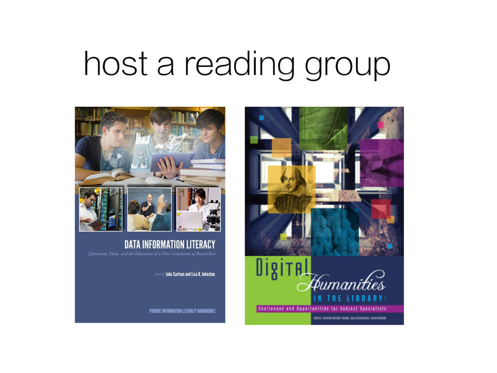 host a reading group
