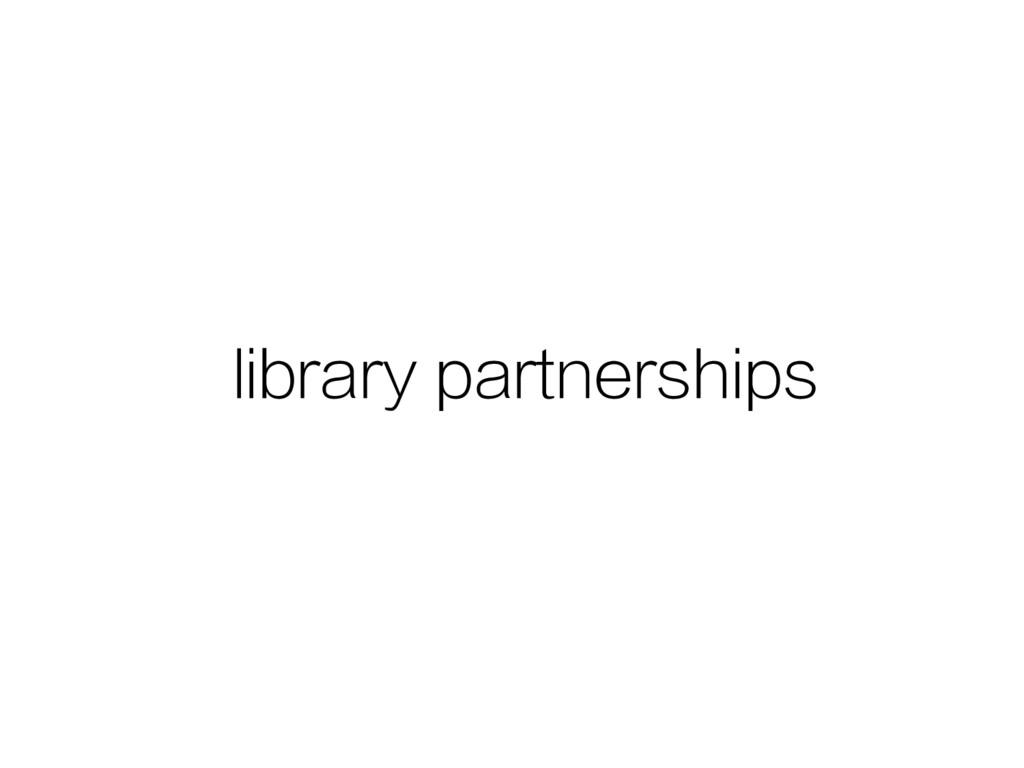 library partnerships
