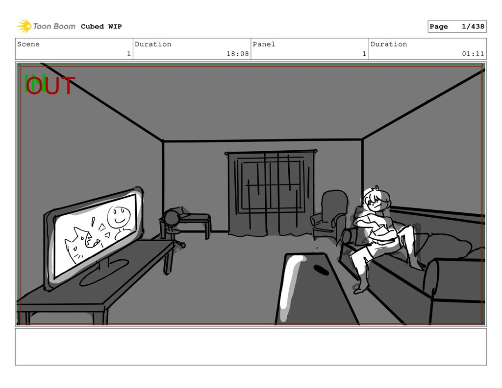Scene 1 Duration 18:08 Panel 1 Duration 01:11 C...