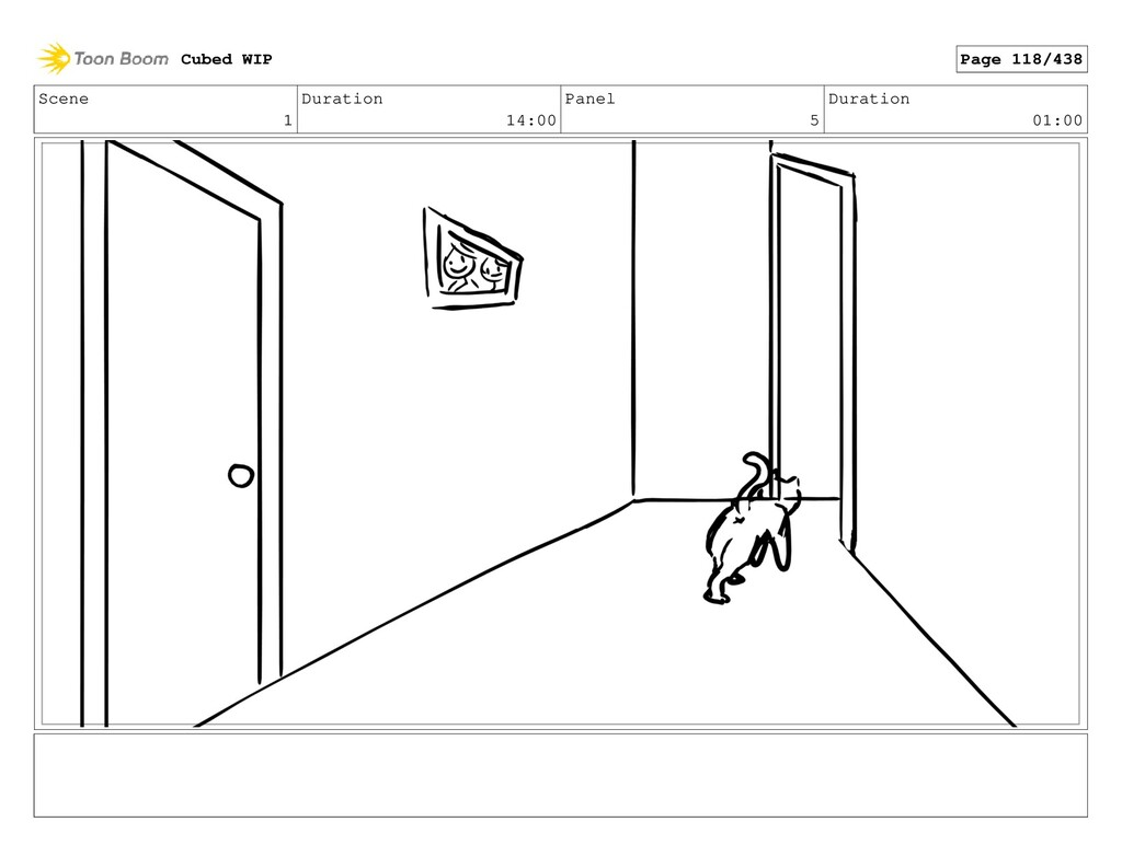 Scene 1 Duration 14:00 Panel 5 Duration 01:00 C...