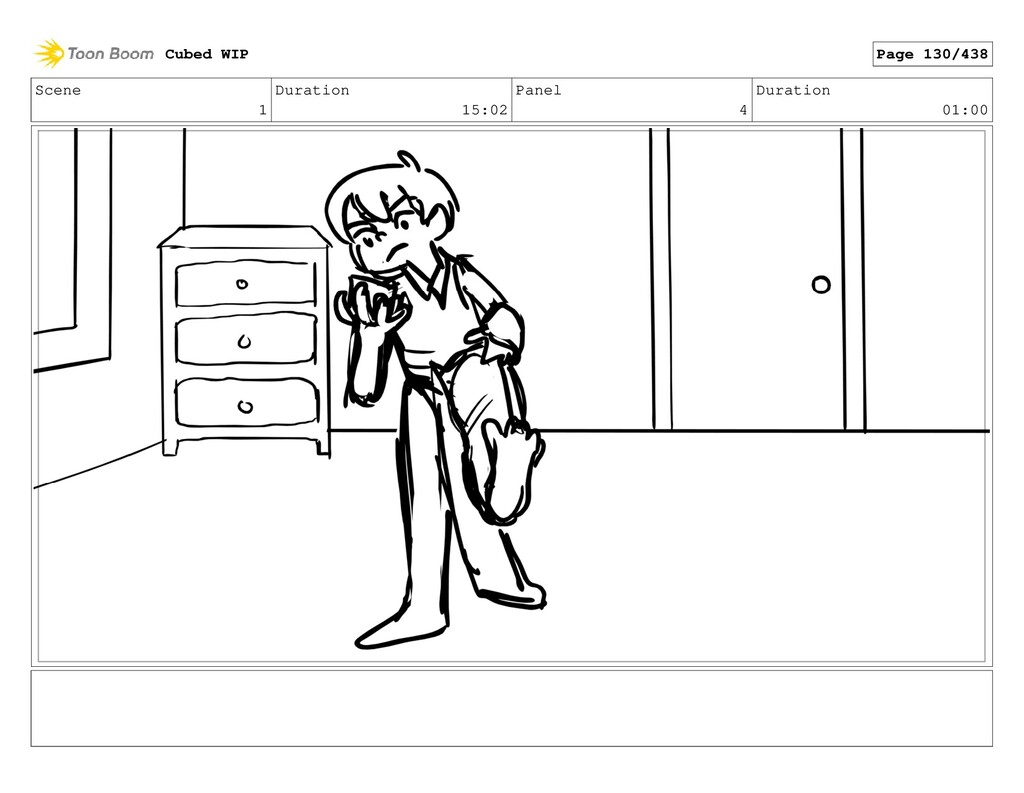 Scene 1 Duration 15:02 Panel 4 Duration 01:00 C...