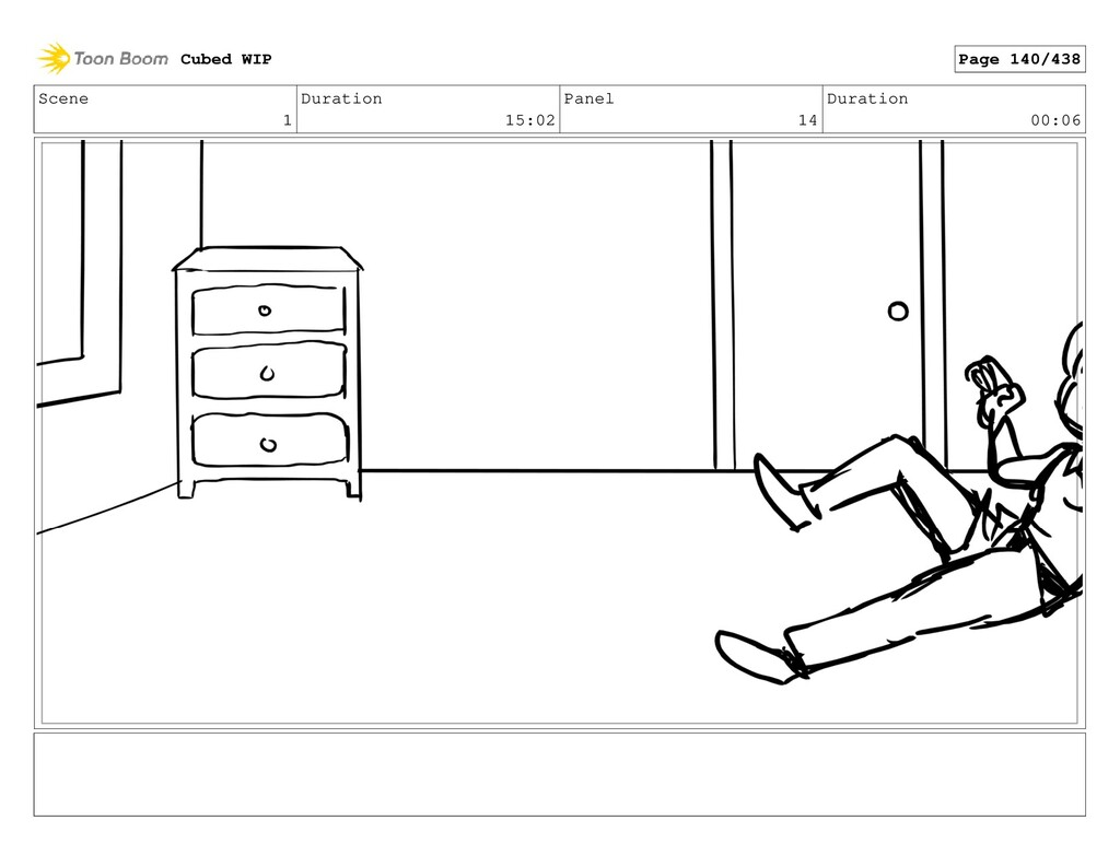 Scene 1 Duration 15:02 Panel 14 Duration 00:06 ...