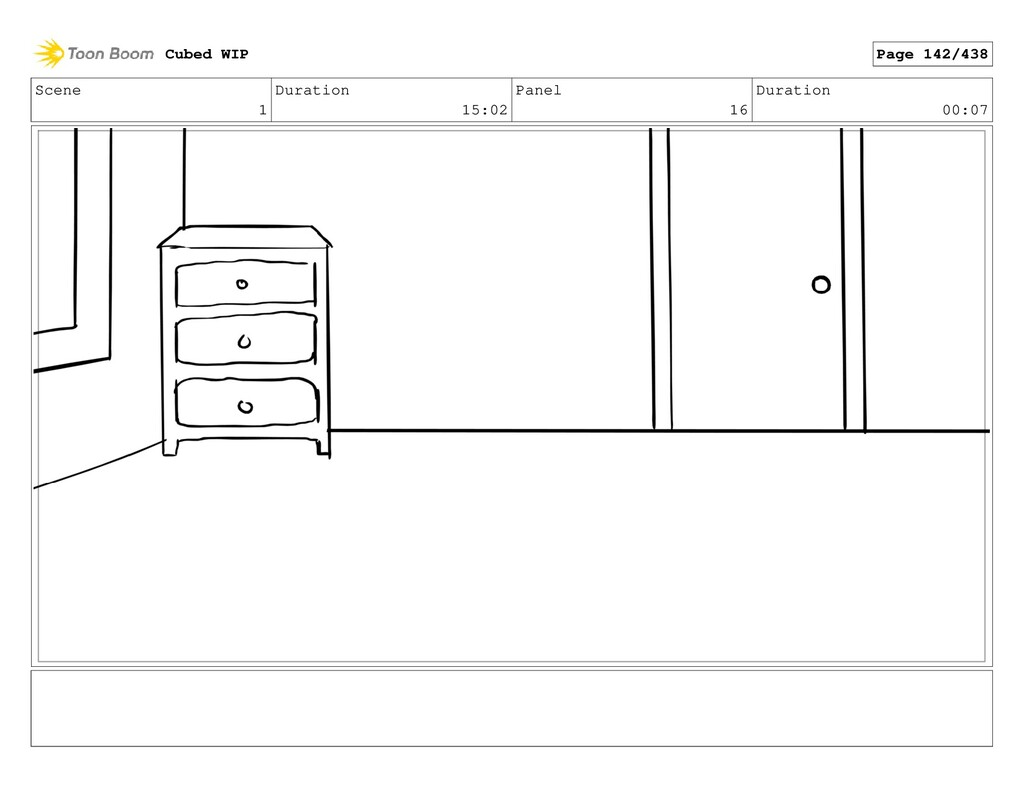 Scene 1 Duration 15:02 Panel 16 Duration 00:07 ...